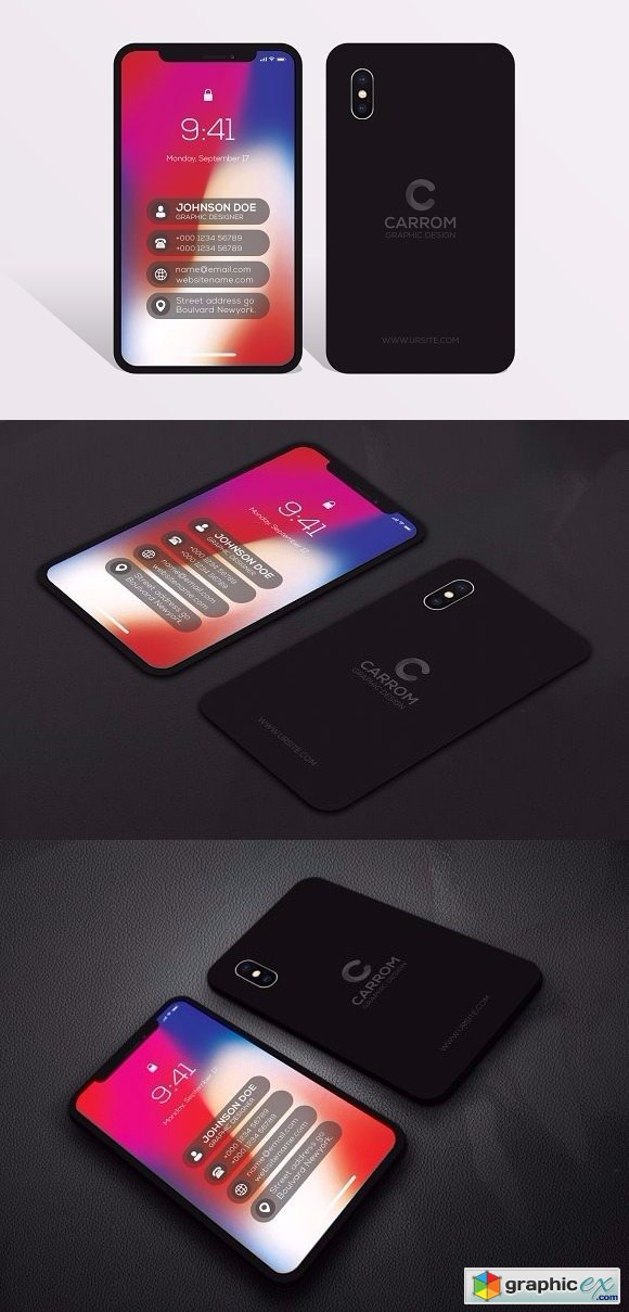 Iphone x business card free download vector stock image photoshop icon iphone x business card reheart Gallery