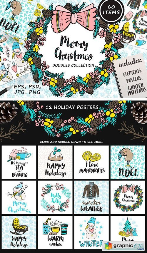 Christmas Doodles Collection