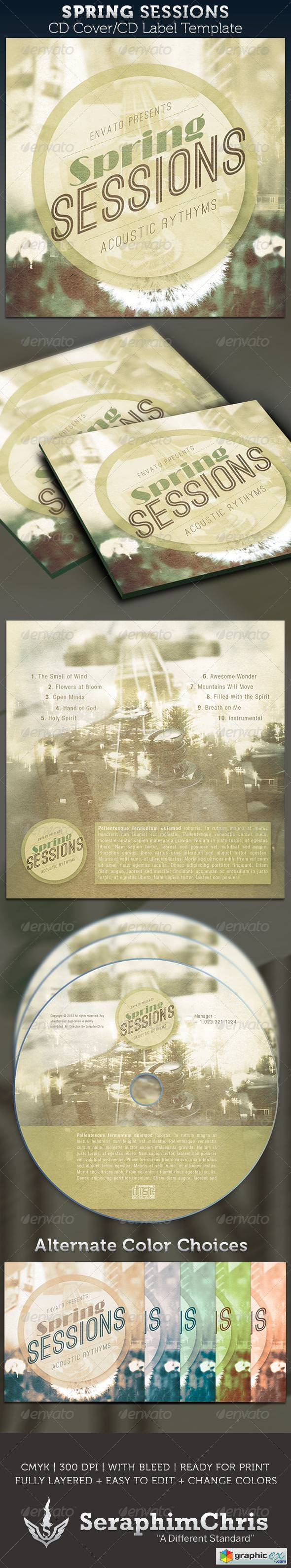 Spring Sessions CD Cover Artwork Template