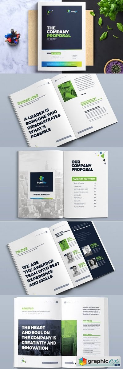 Corporate Project Proposal Template Free Download Vector Stock