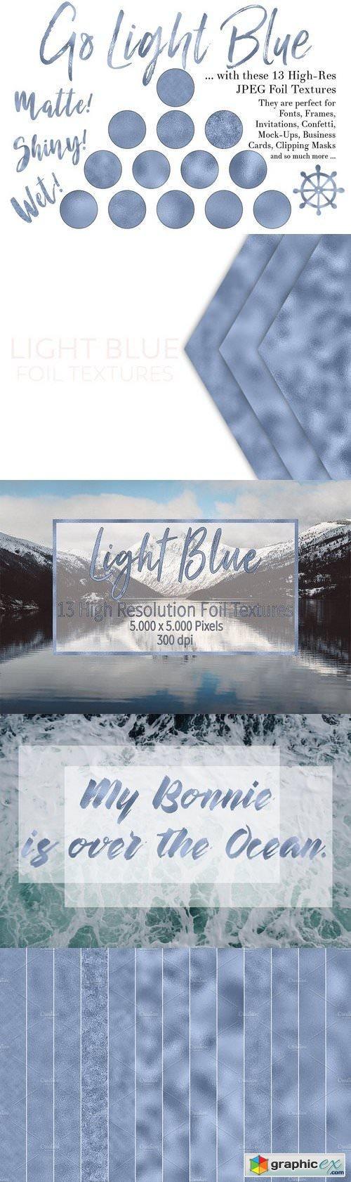Light Blue Foil Textures