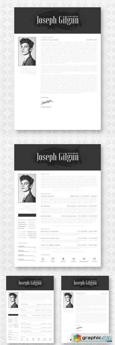 Professional Resume CV Template 2087201