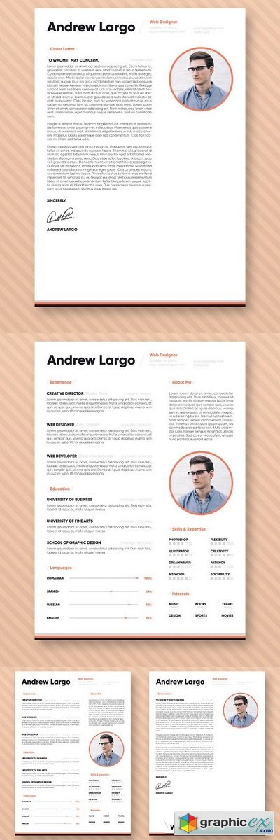 Professional Resume CV Template 2089689