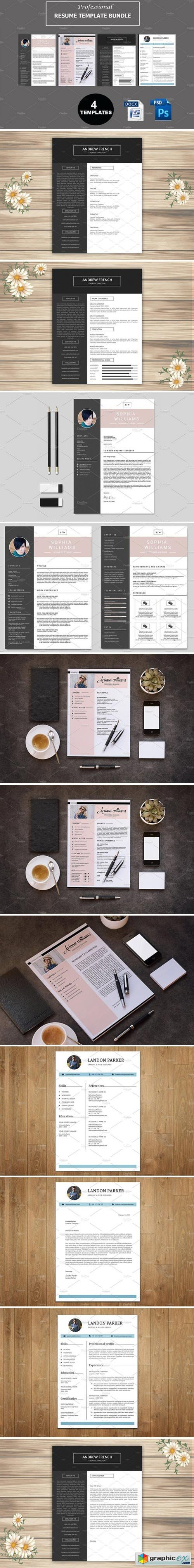 Professional Resume Bundle V44