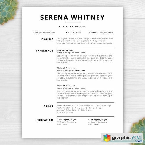 Resume Template CV - Serena