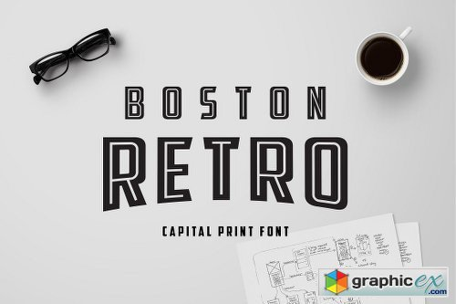 Boston Retro Print