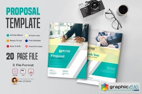 Creative Proposal Template 1945508 Free Download Vector Stock