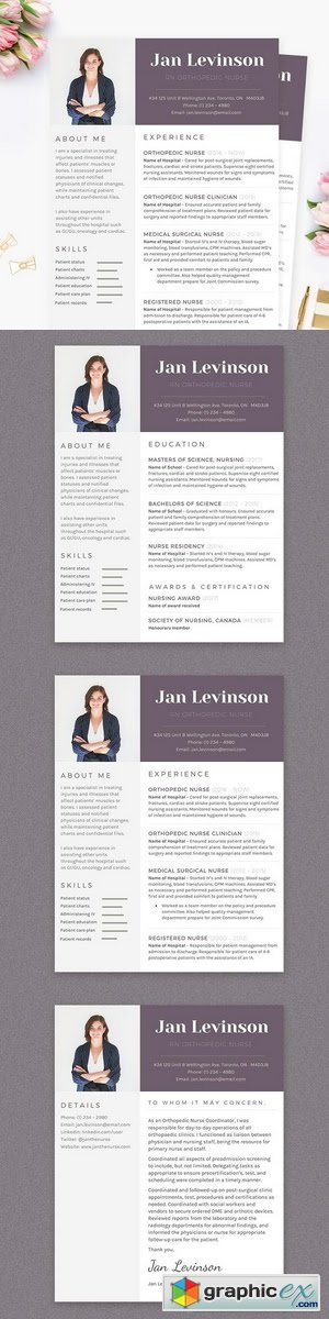 Nurse MS Word Resume Template Pkg