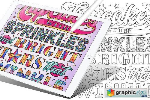 Colorful Words Vol.1: Coloring Book
