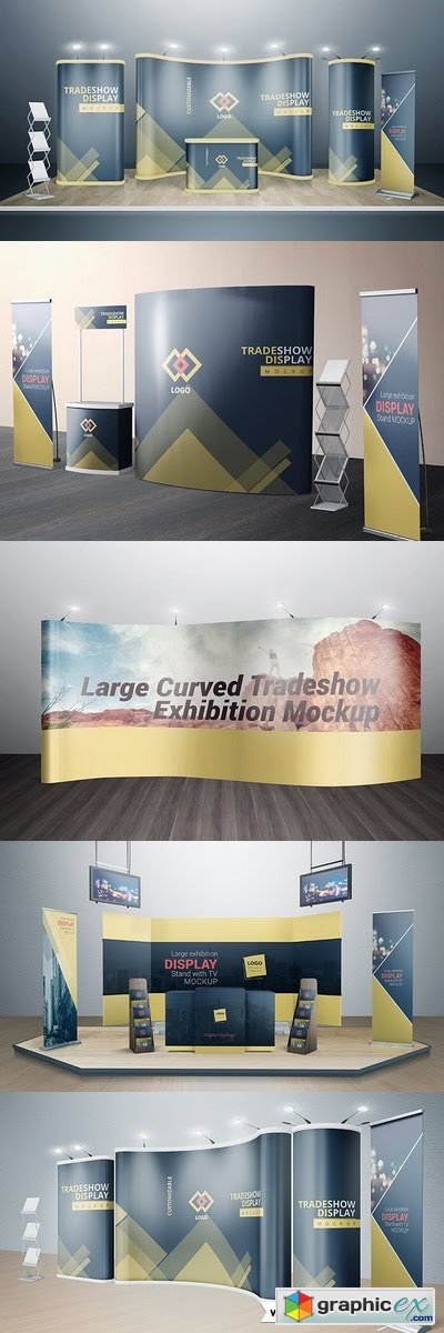 Various Trade Show Exhibition Mockup