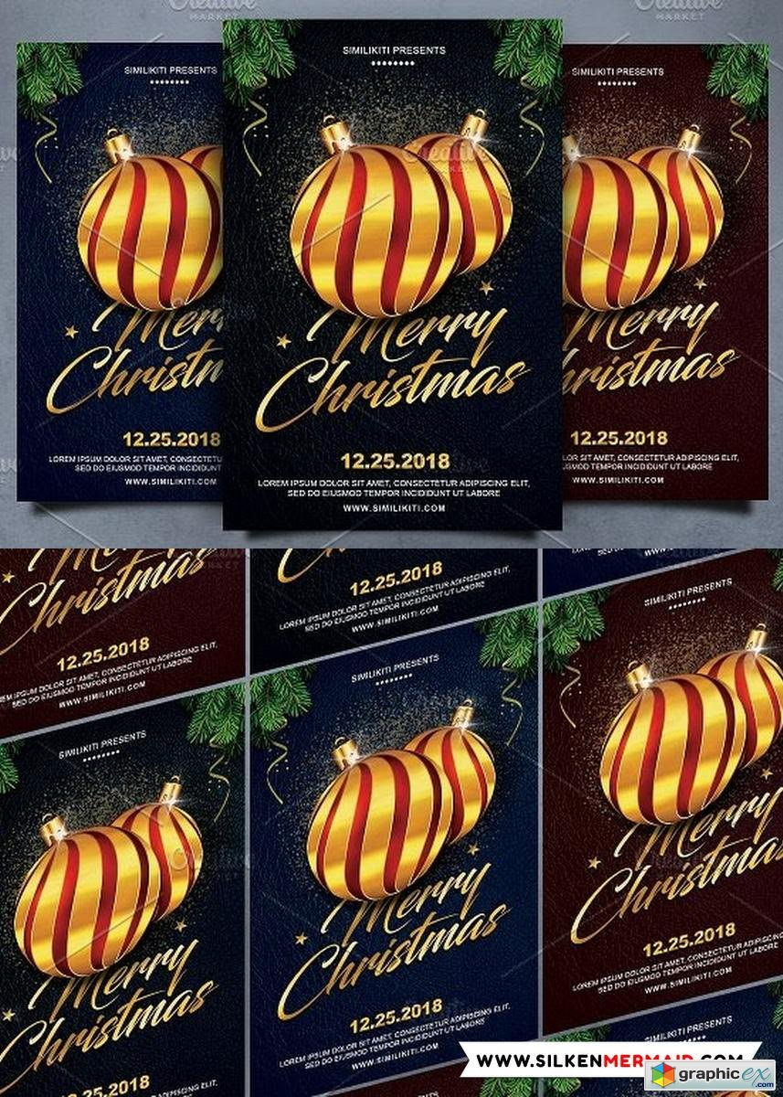 Merry Christmas Flyer Template 2082101