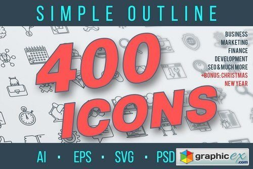 Outline Icons Pack » Free Download Vector Stock Image