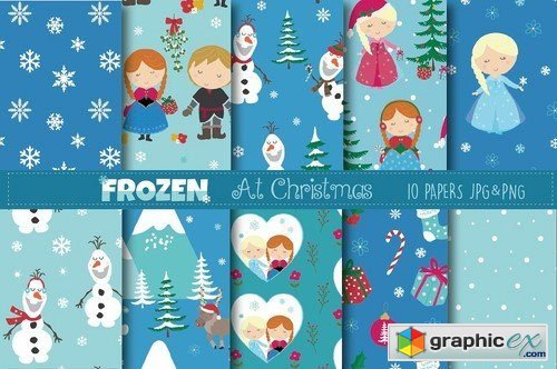 Frozen at christmas paper
