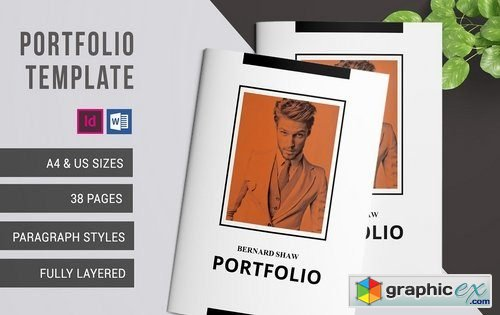 a4 portfolio template free download vector stock image photoshop icon