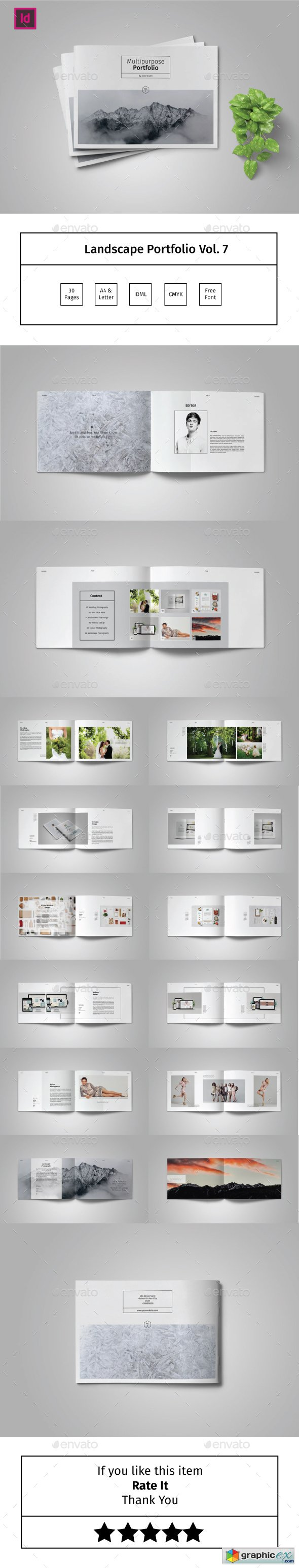 Multipurpose Landscape Portfolio Template Vol.7