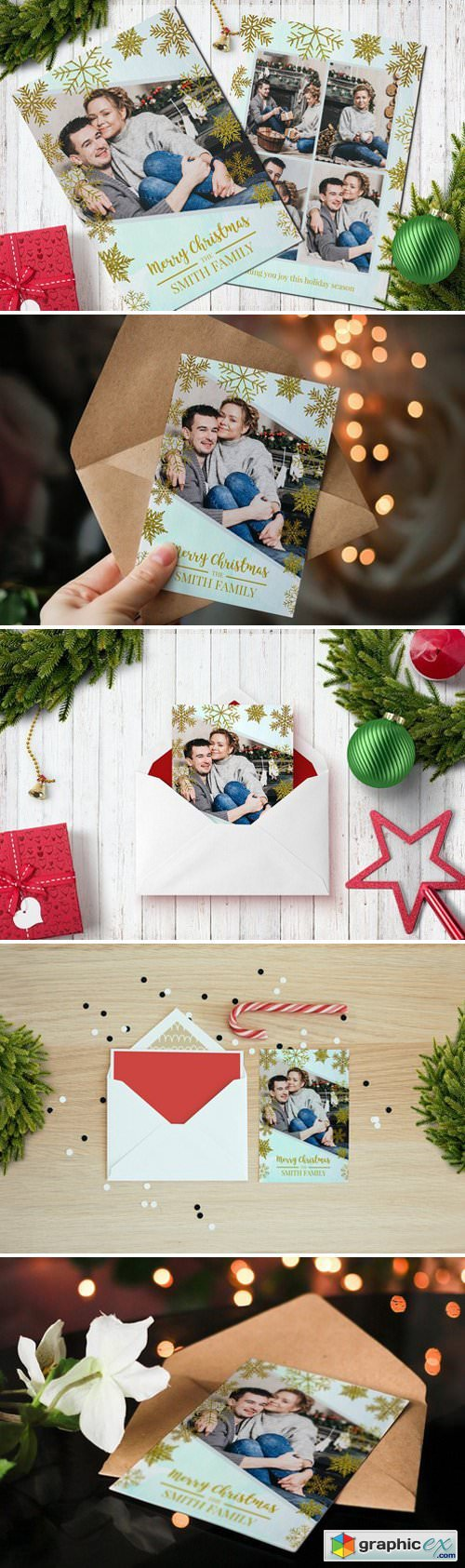 Christmas Postcard Template 5x7 V9