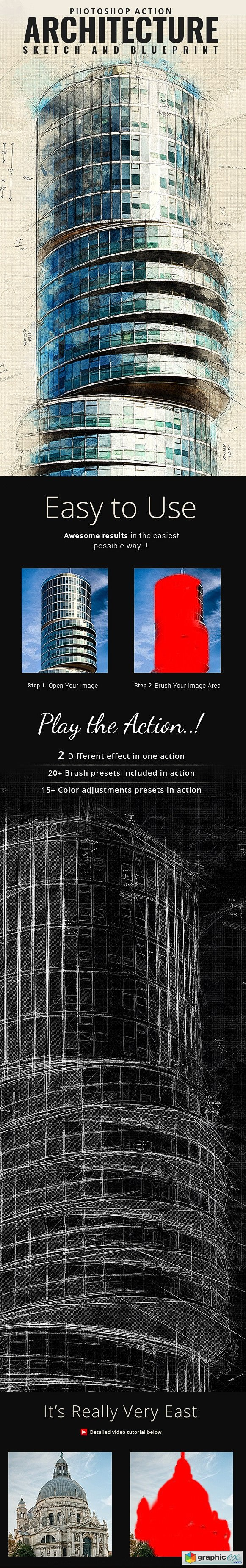 Actions pattern styles free download vector stock image architecture sketch and blueprint photoshop action 21196237 malvernweather Gallery