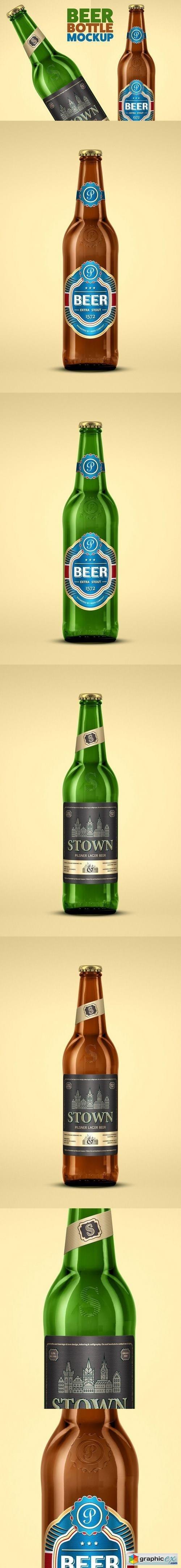 Beer Bottle Mock-Up 1487299