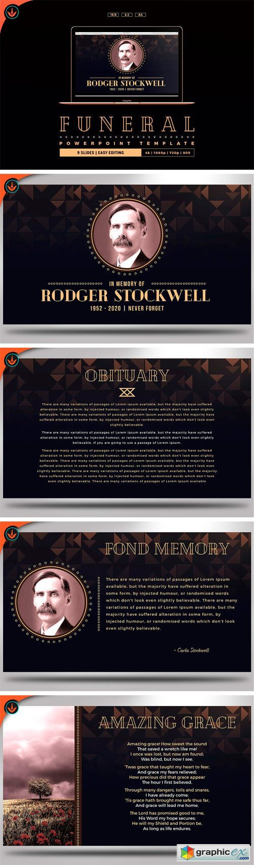 Art deco funeral powerpoint template free download vector stock art deco funeral powerpoint template toneelgroepblik