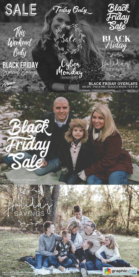 Black Friday Photography Overlays