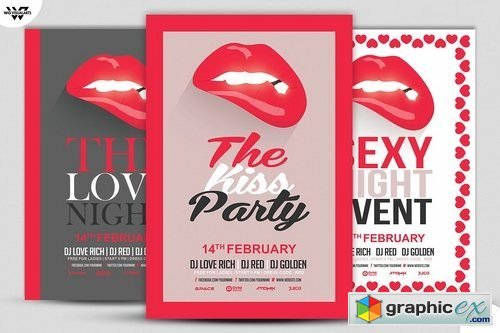 LOVE SEXY LIPS Flyer Template