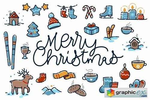 Merry Christmas small clipart