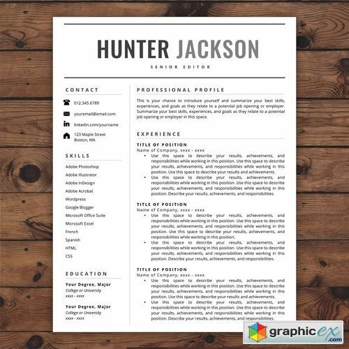 Resume TemplateCV - Hunter