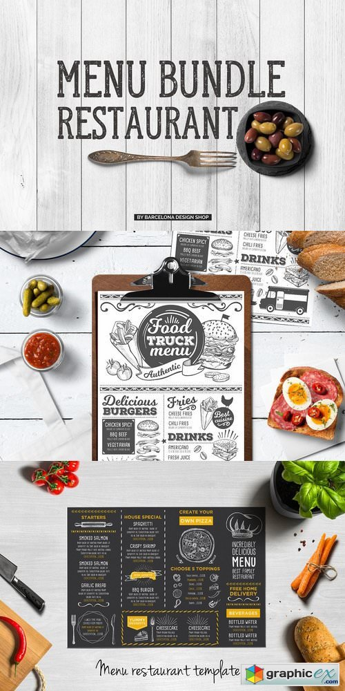 Food Menu Templates Bundle