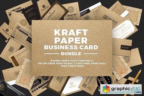 Kraft paper business card bundle free download vector stock image kraft paper business card bundle colourmoves