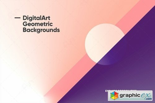 Digital-Art Geometric Backgrounds