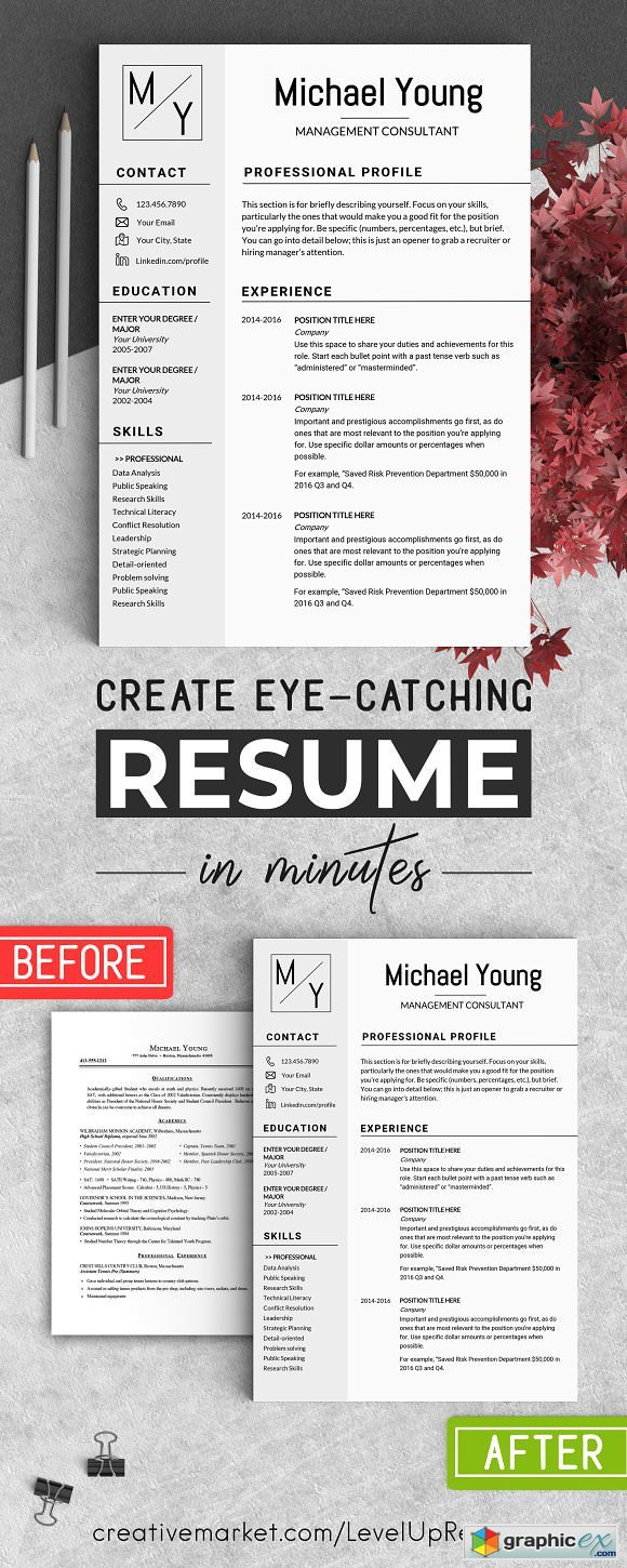 Professional Resume CV Template 2194494