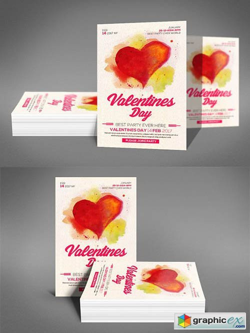 Valentines Day Flyer 2196791