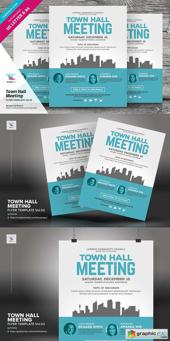 Town Hall Meeting Flyer Vol 02