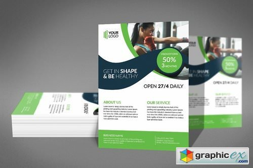 Women Health & Gym Flyer Template 2183706