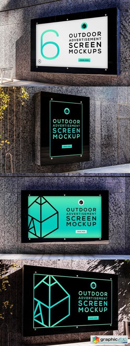 Outdoor Advertising Screen MockUps 5