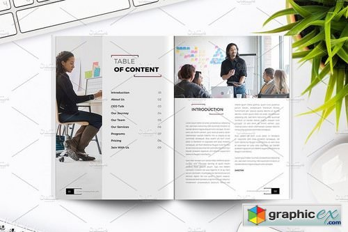 Company Profile Indesign Template Free Download Vector Stock Image