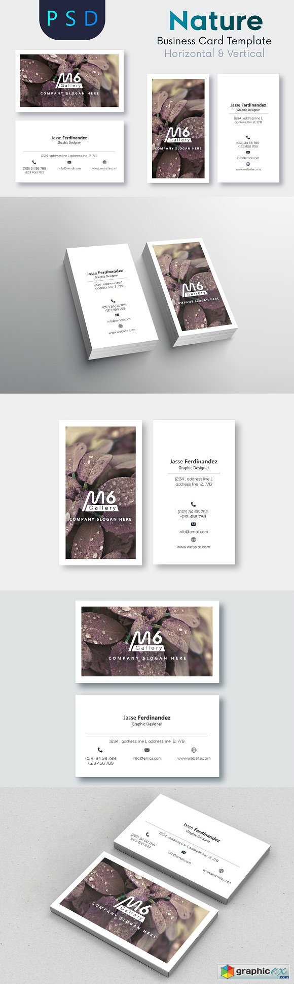 Nature Business Card Template- S51