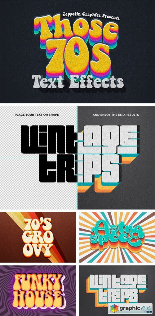 70s Text Effects For Photoshop 187 Free Download Vector