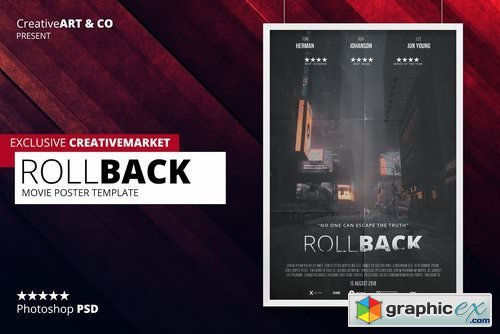Photoshop movie poster templates free