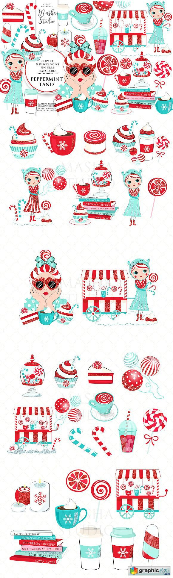 PEPPERMINT LAND clipart