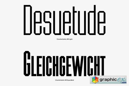 Chamfer Gothic Font Family