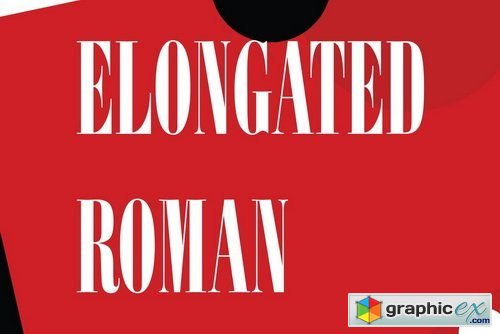Elongated Roman Font » Free Download Vector Stock Image Photoshop Icon
