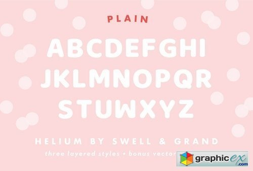 Helium, A Balloon Letter Font