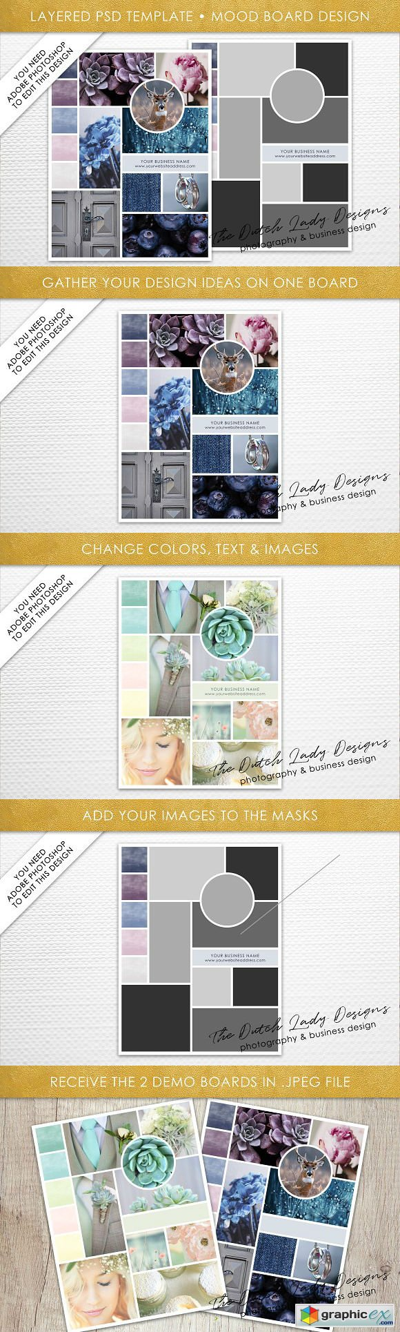 PSD Mood & Vision Board Template 4