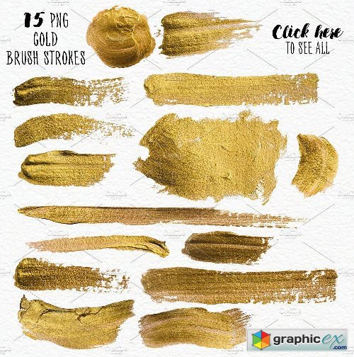 Geometric Watercolor + Gold Bundle