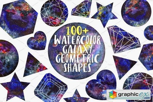 Watercolor Geometric shapes 2140841