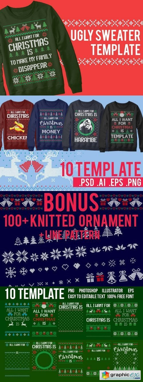 Ugly Sweater Templates