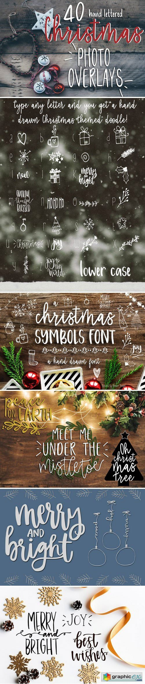 Christmas Photo Overlays + Free Font