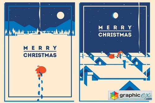 8 Christmas Posters & Cards