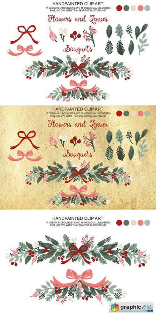Winter Christmas Botanical Clipart
